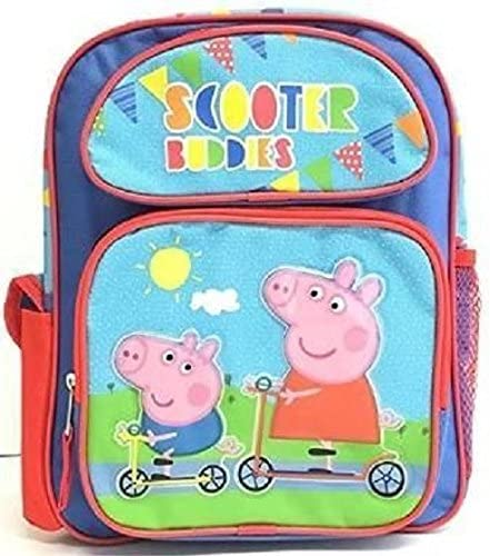 Peppa Pig Scooter Buddies 16 Large Backpack