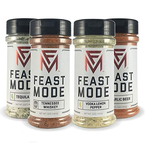 Mojo 4 Pack Blends - Feast Mode Flavors - Low Sodium , No MSG , Gluten Free , All Natural , Meal Prep Seasoning (Best Meal Prep Seasoning)