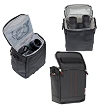Navitech Black Protective Portable Handheld Binocular Case and Travel Bag for the Bushnell ELITE 8x 42mm