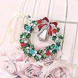 Seni Jewelry Christmas Brooch Pins Crystal