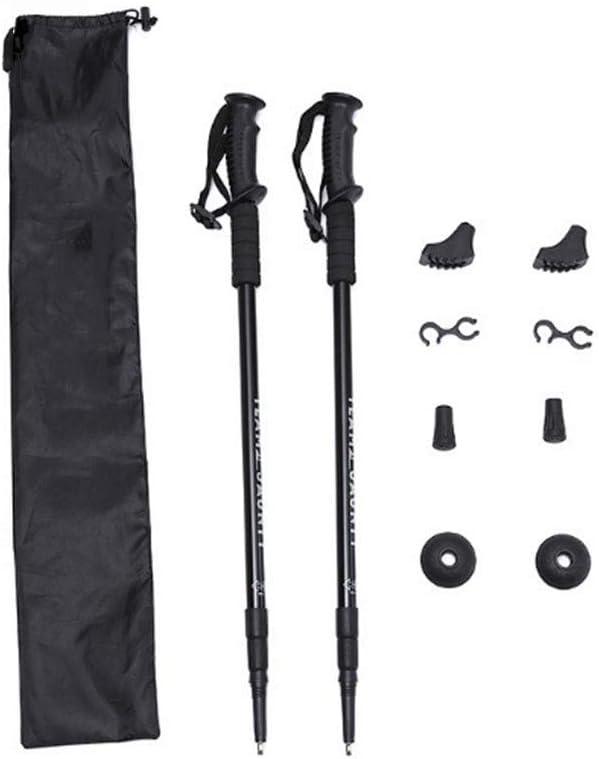 ZFW Bastones de Trekking, Bastones de Senderismo, adecuados para Esquiar, Productos de aleación de Aluminio para Viajes al Aire Libre, duraderos y cómodos