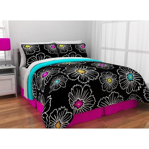 UPC 784857516616, Latitude Pop Bloom Bed in a Bag Bedding Set (Twin)