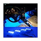 docooler® 4*3 LED 12V Car Auto Interior Atmosphere Lights Decoration Lamp Blue