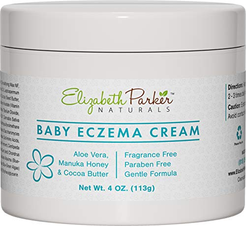 Baby Eczema Cream for Face & Body - Organic and Moisturizing Eczema Lotion with Manuka Honey Aloe Vera and Shea Butter - Relieves Cradle Cap, Diaper Rash, Redness, Dry and Itchy Skin (4 oz)