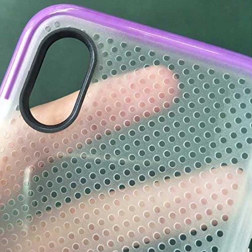 Hosaire 1x Handyhülle Schalen für Apple iphone X,Transparente Weiße Flecken Kieselgel Phone Case Fall Schutzhülle Phone Back Cover Shell
