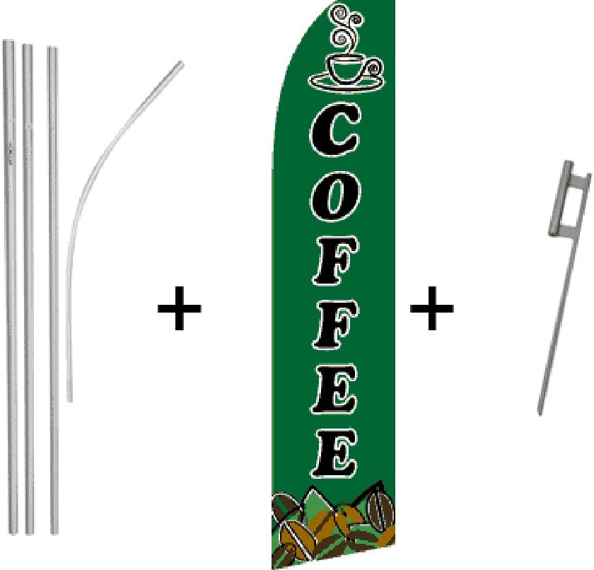 Coffee Quantity 5 Super Flag /& Pole Kits