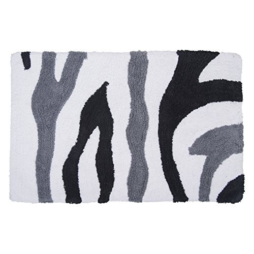 DIFFERNZ 31.101.00 Waves Bath Rug, Multi-Coloured by Differnz