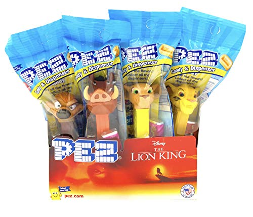 PEZ Lion King Candy Dispensers Individually Wrapped PEZ Candy and Dispensers with Tru Inertia Kazoo (Pack of 12)