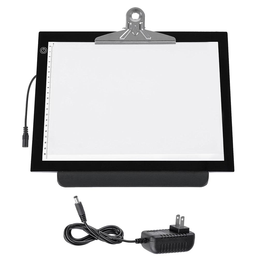 14'' 4.5 W LED Tracing Stencil Board Dimmable Touch Switch Smart Brightness Memory Eye-Protective Technology 360° Rotating 7 Stages Height Adjustable Pad US Delivery(14''L x 10 3/4''W x 1/3''H) by ZeHuoGe (Image #3)