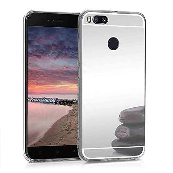 XCYYOO Funda Espejo para Xiaomi Mi 5X/ A1, Protectora Movil Carcasa TPU Silicona Ultra-Fina Bumper Mirror Case, Goma Cubierta Cobertura Delgado Cover ...