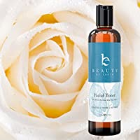 Facial Toner; Organic and Natural Witch Hazel Rose Water Astringent; Hydrating and Clarifying Face Spray to Refresh and Calm; No Alcohol or Oil