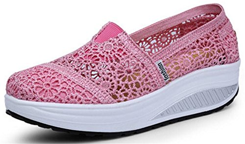 Scarpe Da Donna Per Adulti Maglia Scarpe Da Passeggio Moda Casual Sneakers Rosa