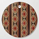 Society6 Wooden Cutting Board, Round, southwest stripe by designlunatic
