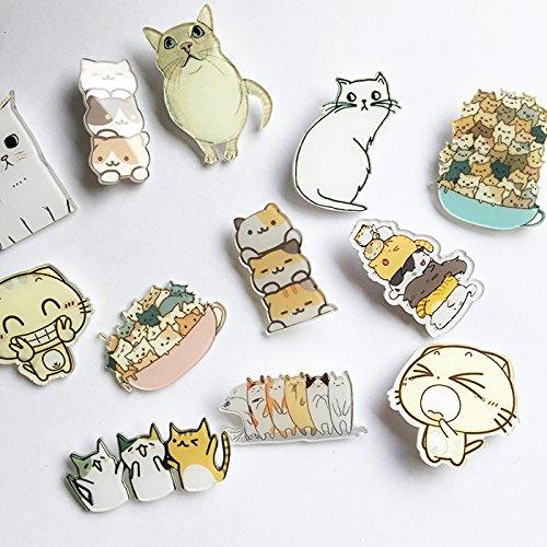 Custom cat brooch badge badges da Meng Meng