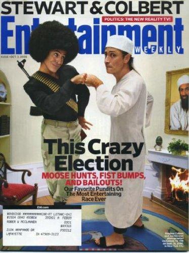 Entertainment Weekly October 3, 2008 Stephen Colbert & Jon Stewart Cover (parody of New Yorker cover), Demi Lovato