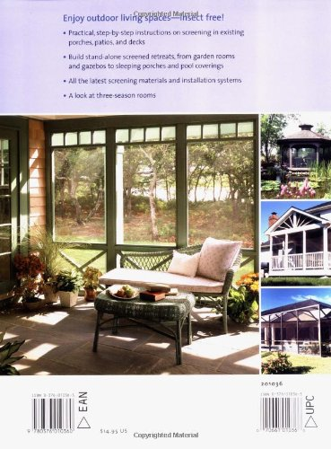 Building screened rooms creating backyard retreats screening in building screened rooms creating backyard retreats screening in existing structures a complete how to guide editors of sunset books 9780376010360 solutioingenieria Image collections