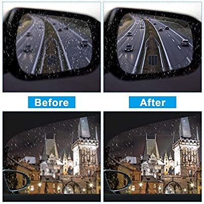 16 Pieces Car Rearview Mirror Film Anti Fog Glare Rain Waterproof Film Blind Spot Mirror Frameless Convex Rear View Mirror for Cars SUV Trucks Bus: Automotive