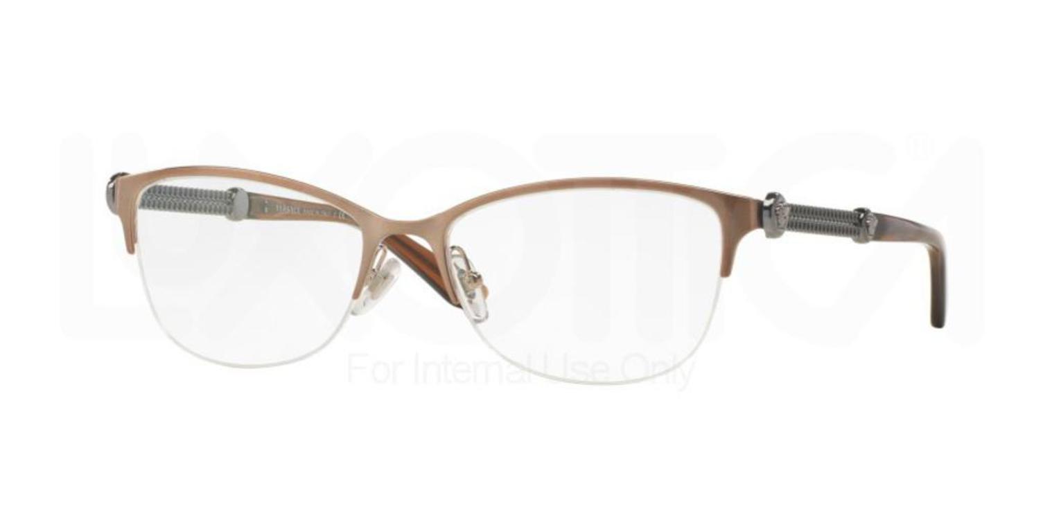 Versace VE1228 Eyeglass Frames 1361-53 - Brushed Copper VE1228-1361-53