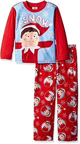 [Elf on the Shelf Boys' Big Boys' 2-Piece Fleece Pajama Set with, Red, 8] (Elf On Shelf Costumes)