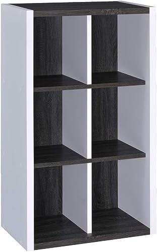 DIY Two-Color 6-Grid Storage Bookcase