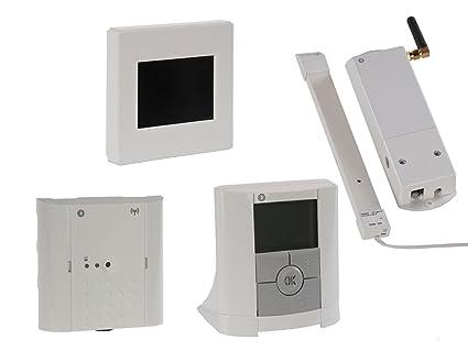 Unidad Central con termostato, receptor y módulo GSM, regulación Calefacción Central, Vitalheizung