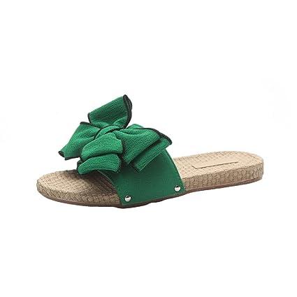 Scarpe da Spiaggia Basse Tacco Piatto (38 EU, Verde)