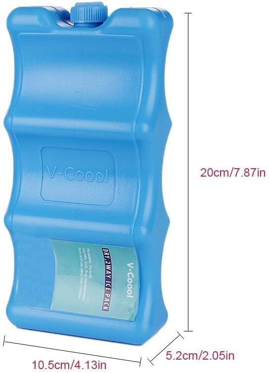 Packs de glace pour le stockage du lait maternel forme ondul/ée Gardez votre nourriture et votre lait maternels frais et r/éutilisables Kit de soin sain pour b/éb/é