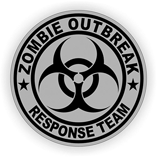 1 Pc First-Rate Unique Zombie Outbreak Response Team Car Sticker Hard Hat Window Decal Laptop Decals Decor Art Wall Funny Infectious Disease Graphics Vinyl Stickers Patches Size 2