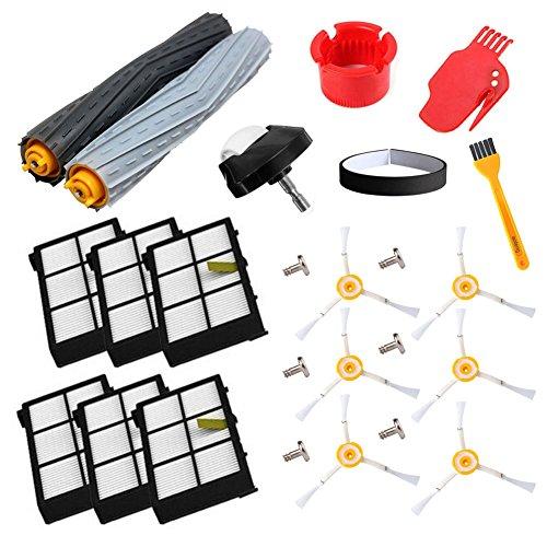 Accessoire pour iRobot Roomba série 800 860 865 866 870 871 880 885 886 890 900 960 966 980 - Brosse Extracteur de décombres, roue de roulette, filtres et brosse
