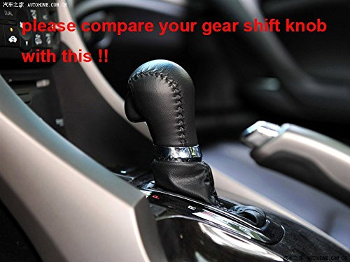 2013-2017 Acura ILX Automotic 2013 2014 2015 2016 2017 Acura RDX Black Genuine Leather Gear Shift Knob Cover for 2009-2014 Acura TSX 2009 2010 2011 2012 2013 2014 Acura TL 2010-2012 Acura ZDX