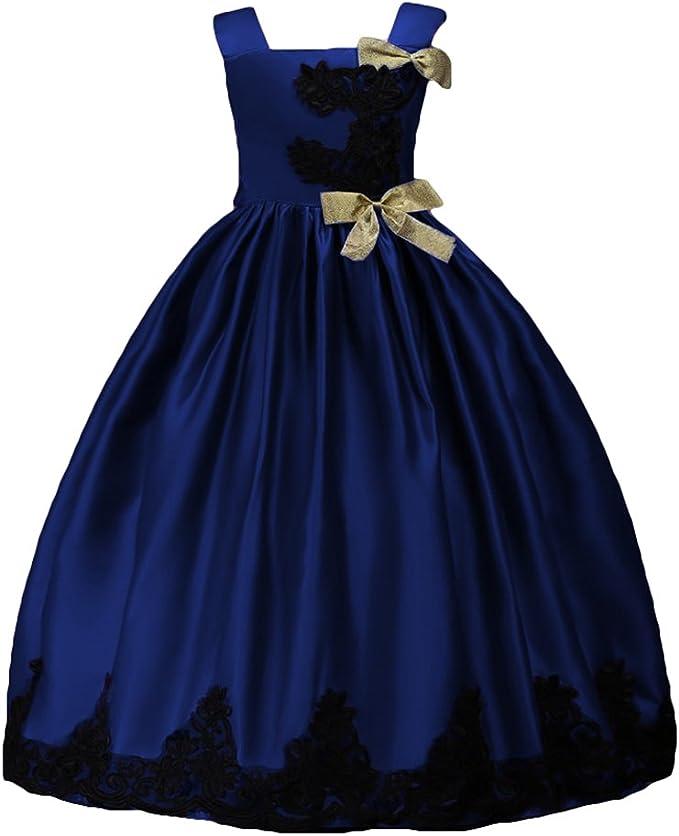 Hibote Hibote Madchen Prinzessin Kleid Prinzessin Kleid Hochzeit Brautjungfer Kleid Armellos Tull Kleider Dance Geburtstag Kleider Fur 3 14 Jahre Kleider Amazon De Bekleidung