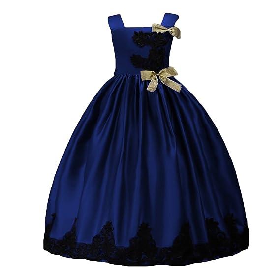 eaad39c55f33 Robe Princesse Fille - Highdas Enfants Fête Mariage Pompe Robes Broderie  formelle Tutu Robes Festive Long