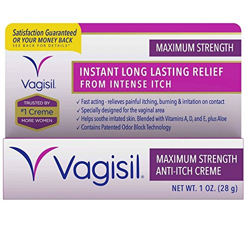 Vagisil Anti-Itch Crème, Maximum Strength, 1 Ounce (Antifungal Creme)