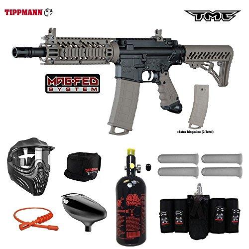 Tippmann TMC MAGFED Elite HPA Paintball Gun Package - Black/Tan