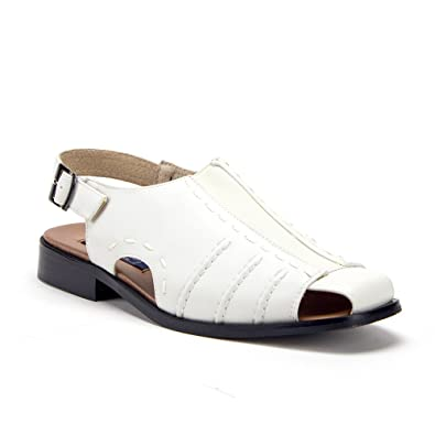 78dfdeed5878e1 Men s 33225 Leather Lined Sling Back Covered Toe Dress Sandals Shoes