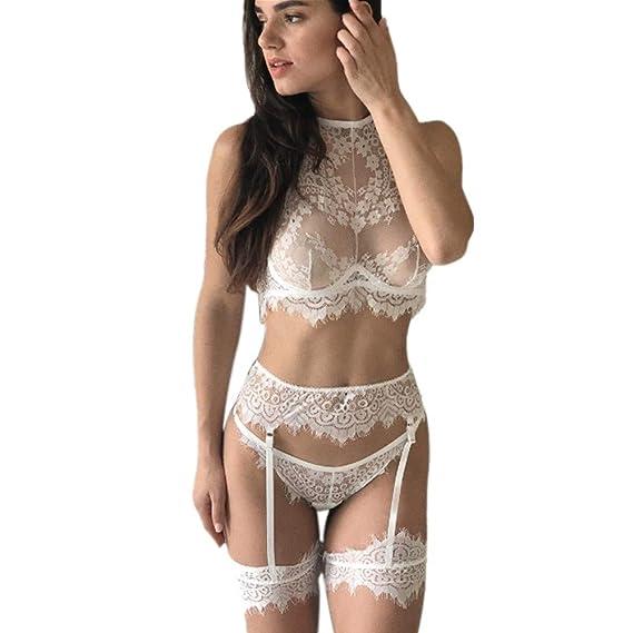 d6b2c8c7b Vovotrade Encanto femenino Ropa Interior de Mujer corsé Encaje Encaje  Pijamas Medias Ropa Interior