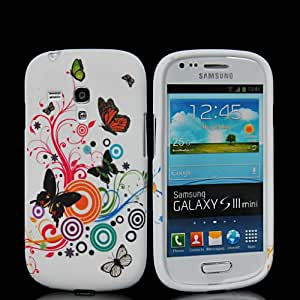 HKCFCASE Flor Carcasa de TPU Gel Caso Funda silicona Case Para Samsung Galaxy S3 Mini I8190 22