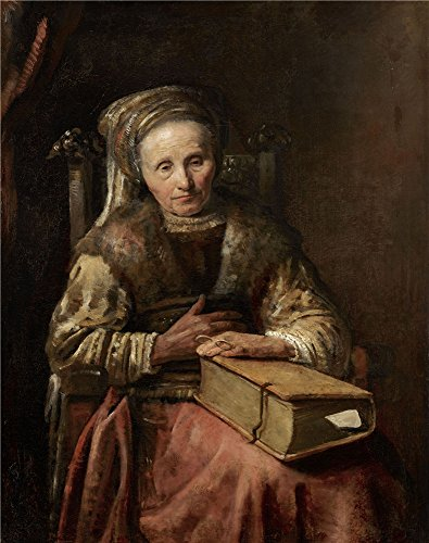Oil Painting 'Carel Van Der Pluym - Old Woman With A Book, 1650s' 12 x 15 inch / 30 x 39 cm , on High Definition HD canvas prints is for Gifts And Basement, Home Theater And Study Room decor, giant
