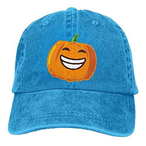 Happy Halloween Pumpkin Denim Hat Adjustable Mens Surf Baseball Hat -