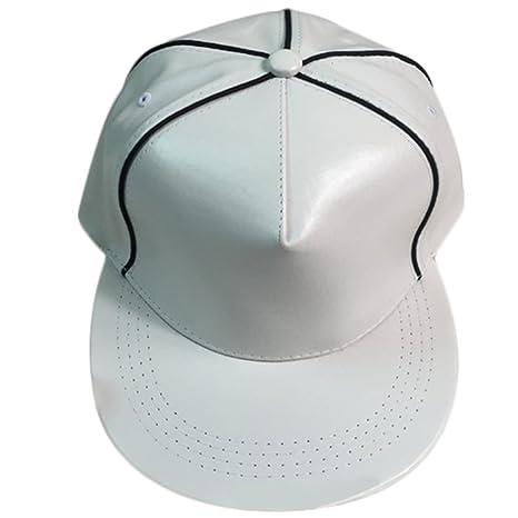 Cosanter Damen Baseball Caps PU Leder Hip Hop Kappe Hüte & Mützen ...