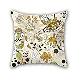 NICEPLW The flower throw pillow case of ,18 x 18 inches / 45 by 45 cm decoration,gift for boys,bar seat,office,bar seat,teens girls,her (double sides)