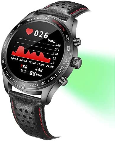 Smart Watch for Men Smartwatch with Heart Rate Monitor / Activity Tracker / Sleep Monitor / Bluetooth Music Control Weather Call/SMS Reminder IP68 Waterproof Fitness Sports Pedometer Watch for Android & iOS (BLACK) 51s4uXQPTZL