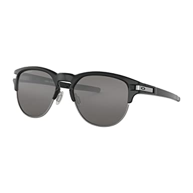 Oakley Herren Sonnenbrille Latch Key 939406, Schwarz (Polished Black/Blackiridiumpolarized), 55