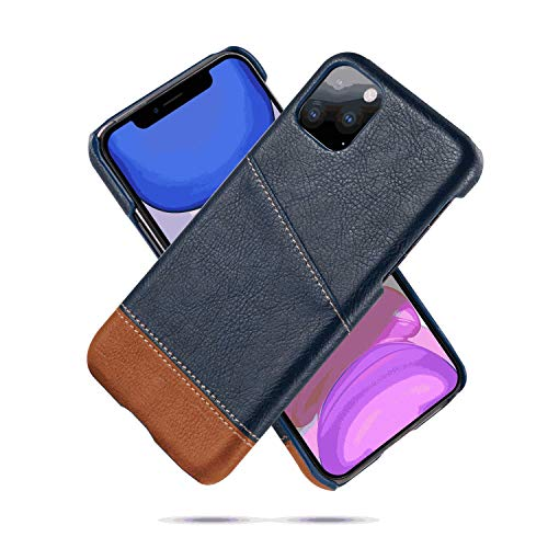 Leather Flip Case Fit for iPhone Xs Blue Wallet Cover for iPhone Xs