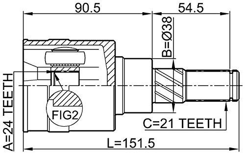 397112U600 Inner CV Joint Rear 24X38X21 For Nissan Febest