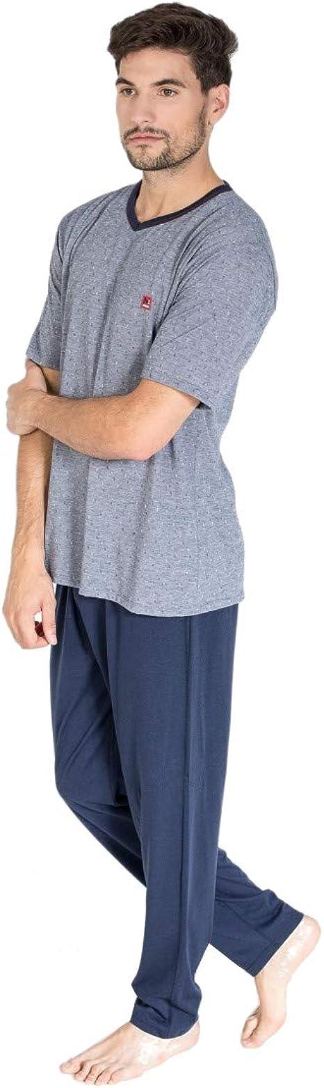 MASSANA - Pijama de Hombre Marino Largo XL: Amazon.es: Ropa y ...