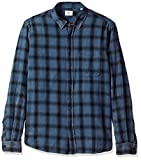 AG Adriano Goldschmied Men's Colton Long Sleeve Washed Plaid Button Down, Years Pacific Coast/Black, XL