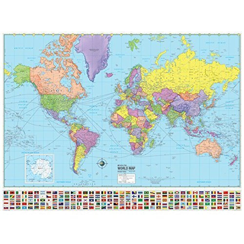 (Universal Map 29181 World Advanced Political Rolled Map - Paper)