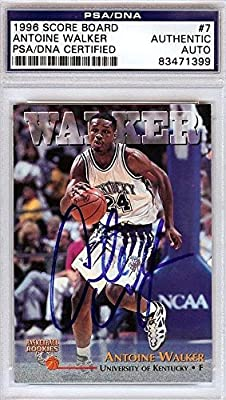 Antoine Walker Autographed Signed 1996 Score Board Card Kentucky #83471399 - PSA/DNA Certified - Autographed College Cards