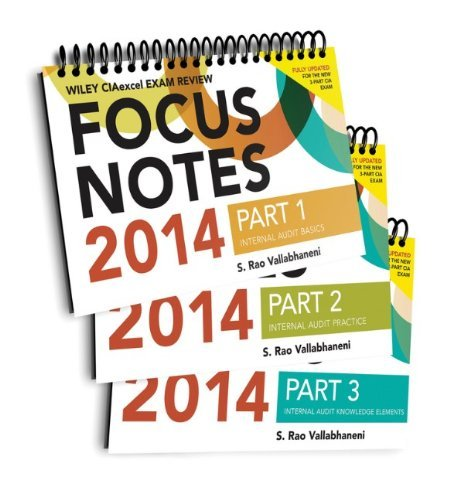 Wiley CIAexcel Focus Notes 2014: Complete Set (Wiley CIA Exam Review Series) by S. Rao Vallabhaneni (2014-06-09)